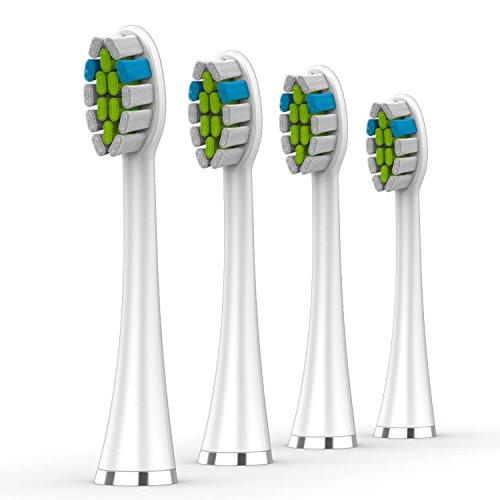 Ersatzbürsten für Lächen elektrische Zahnbürste, S131 4er Pack, für T8 / 051B / H9