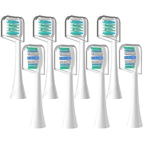 Vibeey Ersatzbürsten, Elektrische Aufsteckbürsten Zahnbürstenköpfe, Kompatibel mit Allen Sonicare Klickgriffen, 4 Empfindliche Köpfe, 4 Präzise Saubere Köpfe