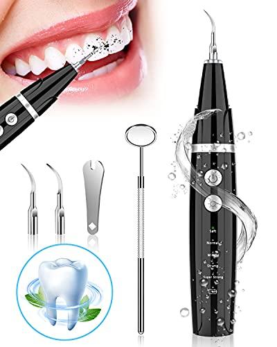 Zahnreinigung Set, NIYPS Zahnreinigungsset für Pflege von Zahn Zu Hause, Es gibt 5 einstellbare Modi und 3 austauschbare Reinigungsköpfe. USB-Wiederaufladbar, Erwachsene und Kinder...